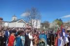 ГАЦКО, 16. АПРИЛА /СРНА/ - У Гацку је данас служен парастос и освештан централни споменик српским жртвама са подручја општине Коњиц, страдалим у посљедњем одбрамбено-отаџбинском рату.