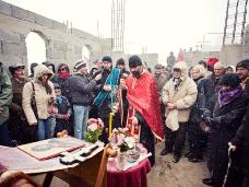 14 Освећење темеља цркве Часног Крста у селу Дражљеву