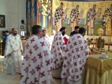 8 Света Литургија у Саборном храму у Требињу