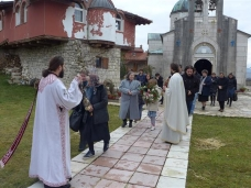 15 Празник Богојављења свечано је прослављен у Манастиру Тврдош