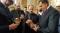 МОСTАР, 9. АПРИЛА /СРНА/ - Његово преосвештенство епископ захумско-херцеговачки и приморски Димитрије даровао је данас предсједавајућег Предсједништва БиХ Милорада Додика и предсједника Србије Александра Вучића златницима са ликом Саборне цркве Свете Tројице у Мостару.